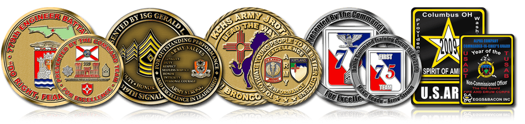 Custom Army Challenge Coins - Free Quotes - Free Artwork