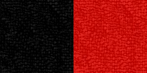 Black/Red Ribbon Color